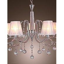 Lampadari moderni in cristallo con pendenti for Amazon lampadari