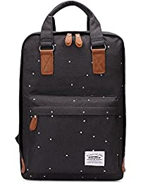 Kaukko portátil ordenador hombros de la mochila del bolso elegante de la Escuela Negro