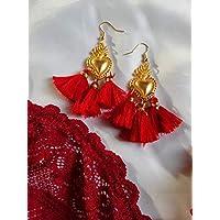 orecchini ex voto cuore sacro sicilia religione barocchi nappe estate san valentino regalo amore