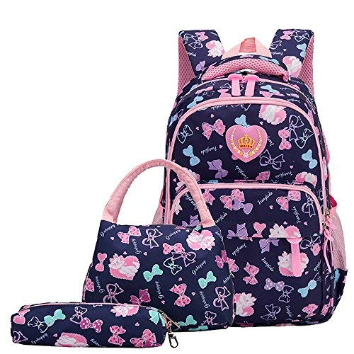 220b8094f2fc7 Fanci 3Pcs Bowknot Cats Prints Preschool Book Bag Daypack for Toddler Girls  School Backpack Set with