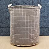 Questquo Foldable Large Storage Laundry Hamper Clothes Baskets Sorter Canvas Laundry Washing Bag Size #4