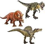 deAO Dinosaurier 3 in 1 Set: T-Rex, Spinosaurus, Triceratops