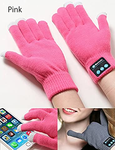 FUQUN Bluetooth Phone Gloves Handsfree Call Touchscreen Gloves with Built-in