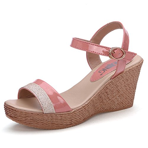 Lady,Summer,Wedge Sandals/High Heels,Thick-soled,Casual Shoes A