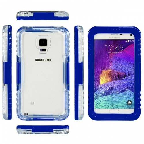 S7/ S7edge Waterproof Swim Diving Waterproof Case for Samsung Galaxy S7 / S7 Edge Clear Protective Front & Back PC+ TPU Cover Heavy Duty Waterproof Swimming Case For Samsung S7 Edge Soft TPU + Hard Plastic Extra Protection for your Valuable samsung edge 7 Used for mainly Swimming Out door sports (Blue)