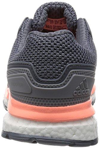 adidas Response Boost 2, Chaussures de Running Compétition Femme, Gris, 41 EU Grey / Blanc / Rouge (Grey / Ftwbla / Brisol)
