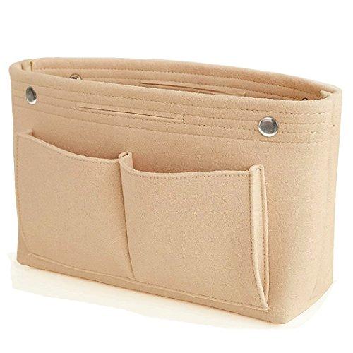 VANCORE Taschenorganizer Handtaschen Organizer Innentaschen für Handtaschen, 8 Fächer (Beige, Klein)