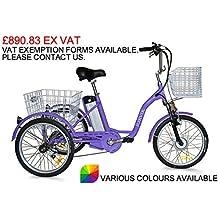 """Jorvik 20""""eléctrico triciclo 36V 250W adultos triciclo/triciclo con discapacidad/carga/E–Varios colores disponibles, azul"""