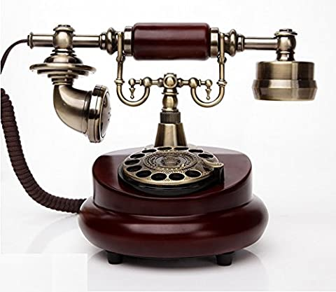 SJMM Téléphone avec ligne directe, de meubles anciens de style européen téléphone rural, plan d