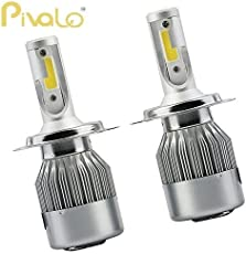 Pivalo C6 H4 LED Headlight Bulbs 36W 7600LM Conversion Kit for White Light Replacement Bulb for Halogen and HID (White, PVLC6HL) - Pack of 2