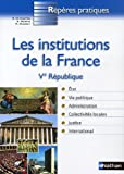 Image de INSTITUTIONS DE LA FRANCE