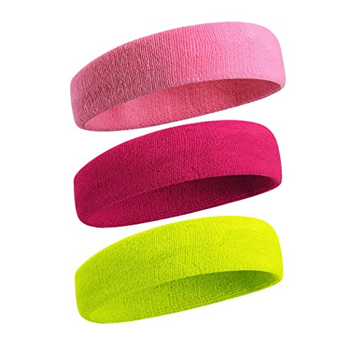 VENI MASEE Sportline Stirnband, Frottee Stirnband, Schweißband, Schweißband Armschweißband, Sweatbands, Headbands