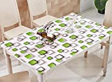 GZD Desktop decoration Waterproof Waterproof Tablecloth Transparent Plastic Wallpaper PVC Green Box Rectangle Applicable to The Low Table Dining Table Party , 90*160cm/35*63inch