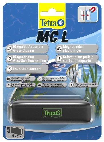 Reiniger Kies Aquarium (Tetra MC Scheibenreiniger Größe L (schwimmender Magnet für Aquarien zum schnelle und gründlichen Reinigen von Aquarienscheiben, geeignet für Becken bis 10 mm Glasstärke))