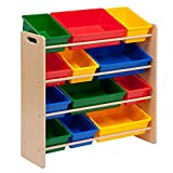 #1: Homesmiths Beige Color Toy Organizer (5 pcs Kids Table and Chair Set)