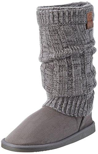 Canadians - Boots, Stivali e stivoletti alti imbottiti caldi Donna Grigio (Grau (250 DK. GREY))