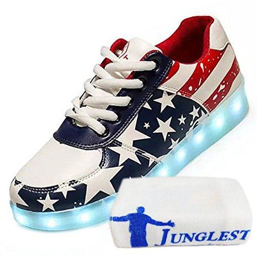 Usa Usb Luminous Led Lade Flagge Schuhe Leuchten Damen Flashing Herren Glow Unisex junglest® Handtuch Stern Rot kleines present Turnschu 7YPv6Hx