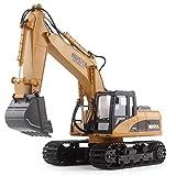 RCTecnic Escavatore Telecomandato RC con Scala 1:14 15 Canali | Escavatori Radiocomandati Camion da Costruzione con Luci e Suoni