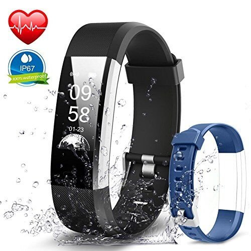 Navtour Waterproof Fitness Activity Tracker Band with GPS Heart Rate Monitor for kids Women Men, Smart Bracelet With Pedometer and Sleep Monitor Calorie Counter for iPhone,Samsung Black