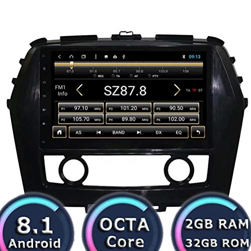 Indash Android 8.1 Auto Teile for Nissan Maxima 2016 Radio Stereo GPS Navigation mit 32 GB ROM 2 GB ROM WiFi 3G RDS Spiegel Link FM AM BT Audio Video Nissan Maxima Stereo