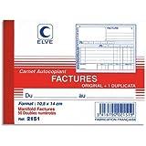 Lebon Et Vernay 2151 Manifold autocopiant facture Format 10,5 x 14 cm 50 feuillets Lot de 10