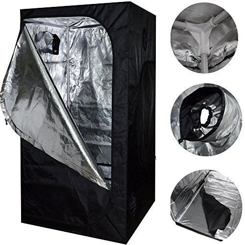 Neu 80X80X160 Grow Zelt Bud Dark Green Zimmer Hydroponics Box Mylar Silber Billig