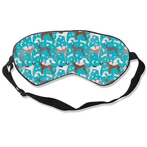 Preisvergleich Produktbild Italian Greyhound Pastel Rainbow Dog,  Dogs Dog D Sleep Mask Pack Men and Women Or Children Eye Mask No Pressure Eye Masks for Sleep & Travel