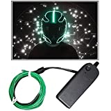 #5: Vheelocityin 200cm Tron style Helmet Light Waterproof LED - Green
