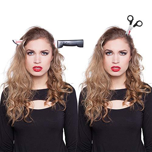 Preis am Stiel 2er Set Haarreifen ''Schere'' und ''Messer'' | Halloween Kostüm | Accessoires | Verkleidung | Haarschmuck | Kostümzubehör | Karneval Kopfbedeckung