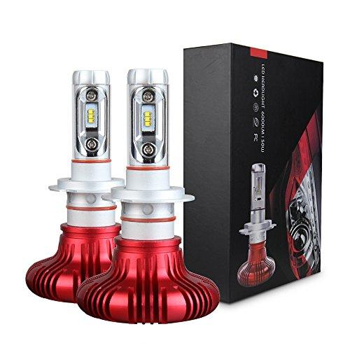 Koyoso H7 LED Bombilla Lámpara para Faros Delanteros de Coche y Camión 12000LM 6500K