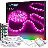 Govee Tiras LED, Luces LED RGB 10m con Control Remoto y Caja de Control, 20 Colores y 6 Modos de Escena para la Habitación, T