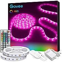 Govee Tiras LED, Luces LED RGB 2 rollos 5m con Control Remoto y Caja de Control, 20 Colores y 8 Modos de Escena para la Habitación, Techo, 12V