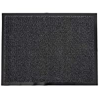 AHOC Machine Washable Black and Grey Heavy Quality Non Slip Hard Wearing Barrier Mat, Available in 8 sizes 60 x 80 cm)