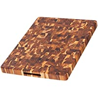 Proteak 331 Rectangular Chopping Board with Hand Grip, 20-Inch by 15-Inch by 1.5-Inch, Brown by