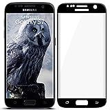 moex 3D Panzerfolie für Samsung Galaxy S7 | Panzerglas Full Screen Glasfolie [Tempered Glass Curved] Protector Glas Displayschutz-Folie für Samsung Galaxy S7 Schutzfolie, Schwarz