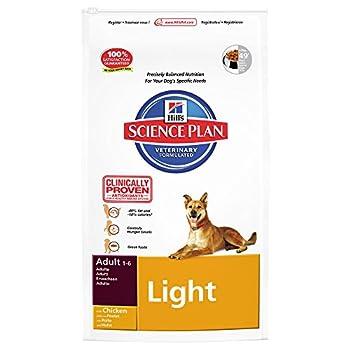 Hill's Science Plan Canine Light Nourriture Croquette pour Chien Adulte Poulet 12 kg