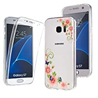 NWNK13Ž Samsung Galaxy S7 Ultra Thin 360- degree Protective Front And Back Complete Transparent Plain / Patterned TPU Gel Case. (CF)