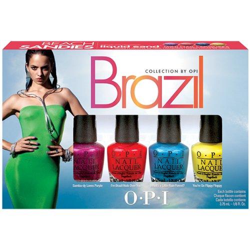 OPI Brazil Collection Beach Sandies Vernis à Ongles Set de 4