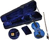 Steinbach 4/4 Geige im SET, blau, handgearbeitet