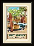 Northwest Art Mall ed-5734mfgdm BAX Key West Florida Beach Zugang gerahmtes Wandbild Kunst von Künstlerin Evelyn Jenkins Drew, 33x 40,6cm