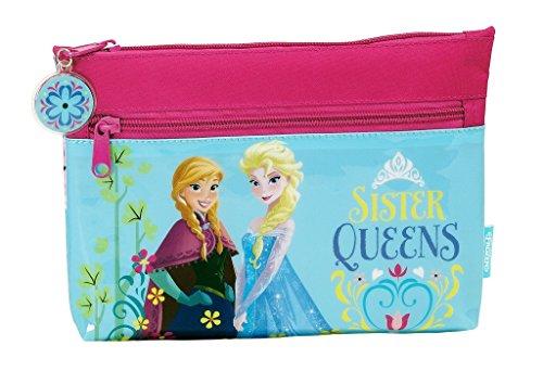 Disney frozen - la regina dei ghiacci, beautyful primavera borsa (s033), rosa/blu, 23 x 16 x 3 cm
