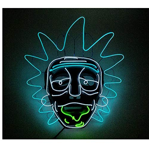 LED Latex Halloween ClownMaske Horror Herren Gruselige Blutige Maskerade Neuheit Erwachsene Dämon Masken Perfekt für Fasching Karneval Kostüm Weihnachten Cosplay Kostüme Für Männer und Frauen