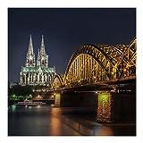 Vliestapete–Kölner Dom–Wandbild quadratisch