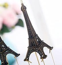 Discount4product Wind Chimes Metal Eiffel Tower & Metal Bells Gift Christmas Diwali Arts & Crafts