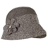 Hosaire Sombrero de Pescador Gorro para Mujer Sombrero perímetro 50-56cm