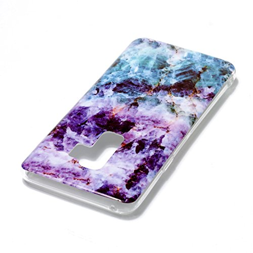 inShang Samsung Galaxy S9+ custodia cover del cellulare, Anti Slip, ultra sottile e leggero, custodia morbido realizzata in materiale del TPU, frosted shell , conveniente cell phone case per Galaxy S9 Blue purple marble