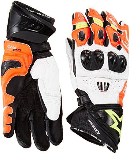 Alpinestars Racing Handschuhe GP Pro R2 Gloves, BLACK WHITE RED YELLOW FLU, L Grain Full Metal