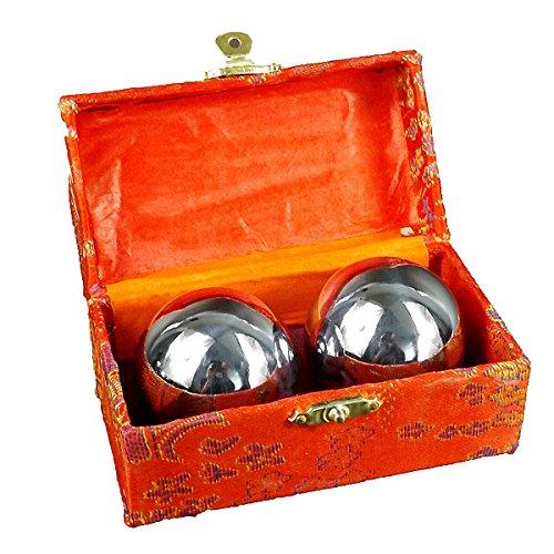 Metal Mano Bolas Baoding chino bolas de salud ejercicio antiestrés...