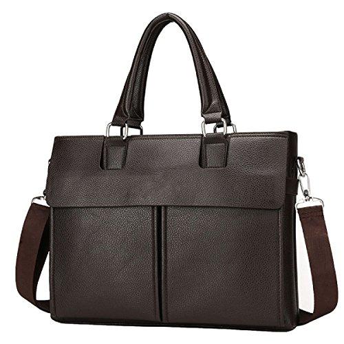 Männer Beutelgeschäft Beiläufige Einzelne Schulterquerschnitt Große Beutellederbeutel-Aktenkofferhandtasche Brown