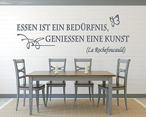 XXL Wandtattoo für die Küche ~ Zitat: Essen ist ein Bedürfnis ...